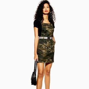 NWT Topshop Camo Denim Buckle Trend Dress 6 $68